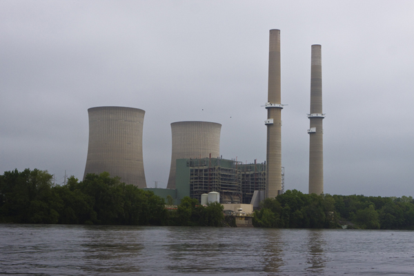 Pennsylvania coal power plant on the Delaware River