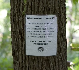 West Amwell  Ordinance prohibits soil disturbance or destruction of vegetation in bufferb