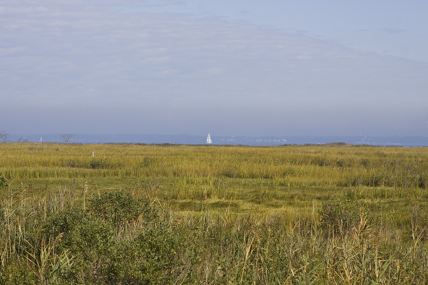 Raritan Bay estuary, site of wind project behind Bayshore Regional Sewer Authority Plant