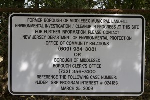 Oversight of Middlesex Boro Landfill closure, toxic site cleanup, and vapor intrusion are DEP's job.