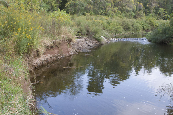 stream bank erosion caused by poor land use and poor land management
