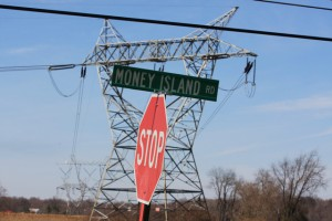 Money Island - distribution lines just north of Salem plant